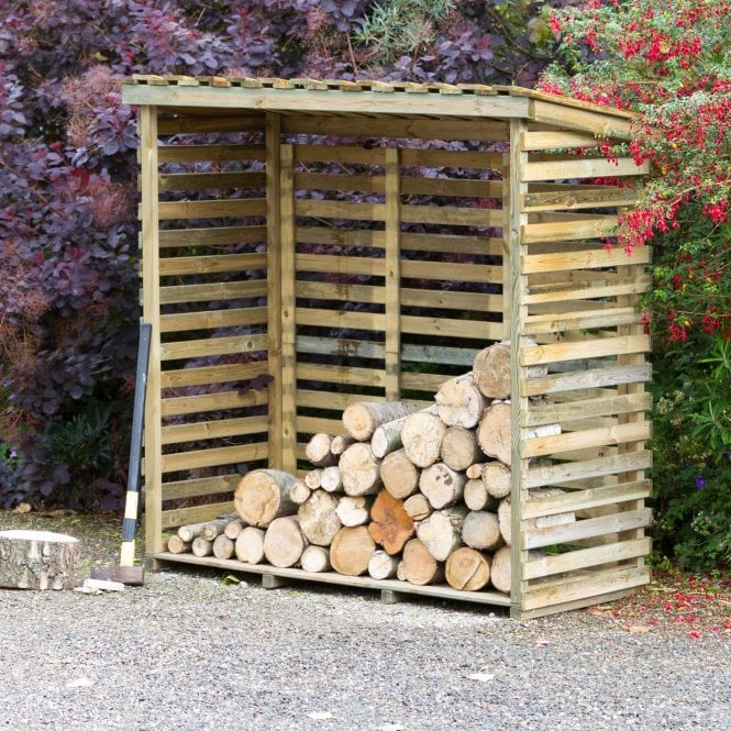 Click to view product details and reviews for Large Log Store With Back.