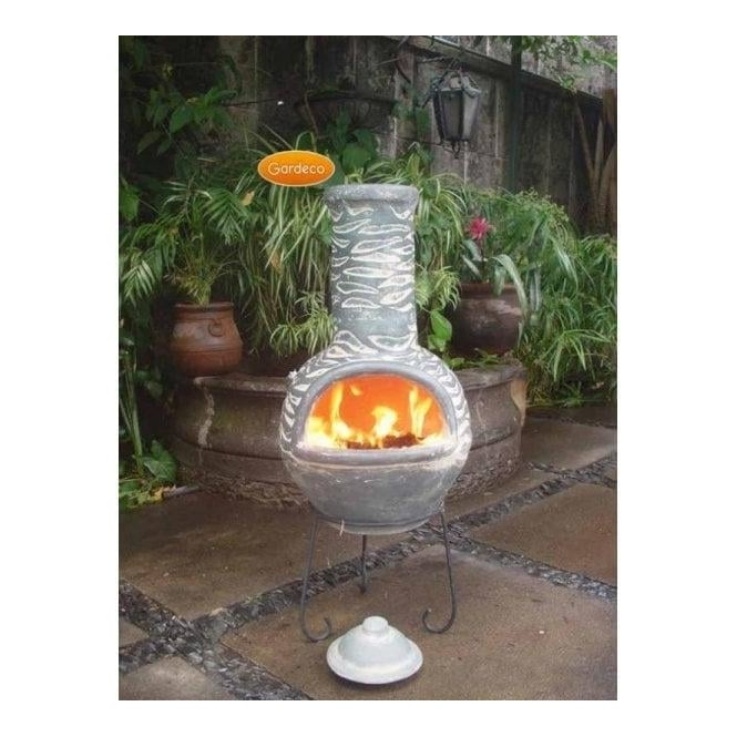Large Olas Mexican Clay Chiminea