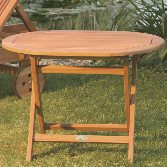 Oval Folding Occasional Table