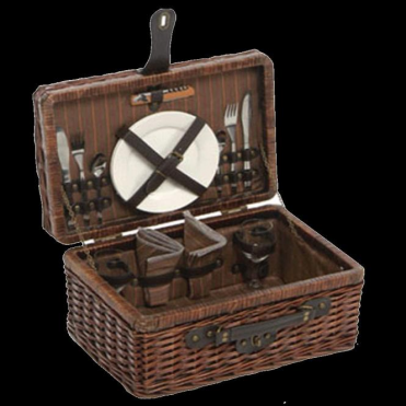 Lifestyle Romantic Willow Picnic Hamper for Two