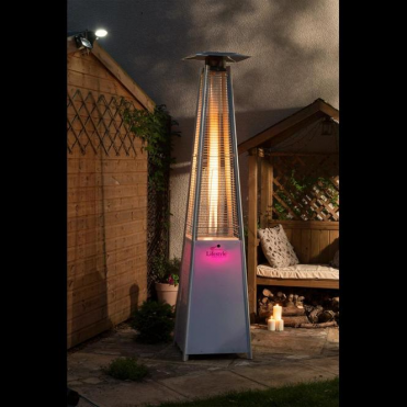 Lifestyle Tahiti Flame Patio Heater with LED Lighting