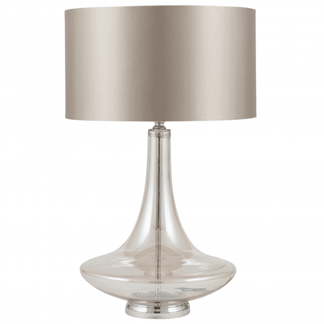 Lustre Curved Glass Table Lamp