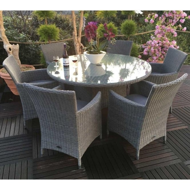 royalcraft madison 6 seater round dining set