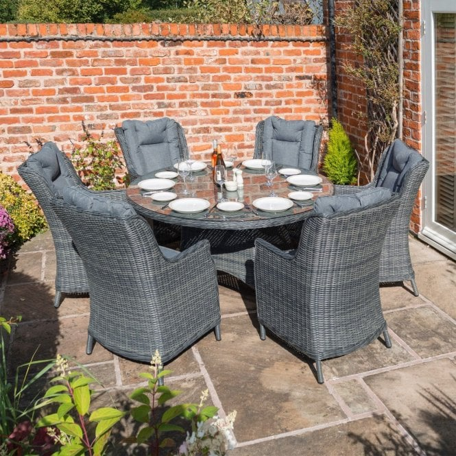 Click to view product details and reviews for Manhattan Dining Set Grey Weave.