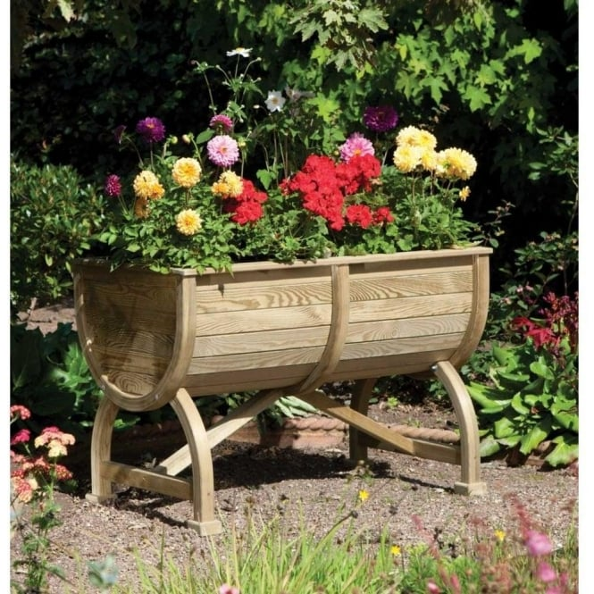 Click to view product details and reviews for Marberry Barrel Planter.