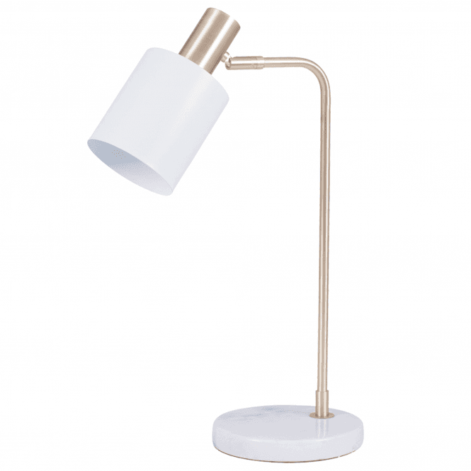 Marble Foot White And Gold Retro Table Lamp