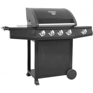 Gourmet 600 Deluxe 4 Burner BBQ with Side Burner