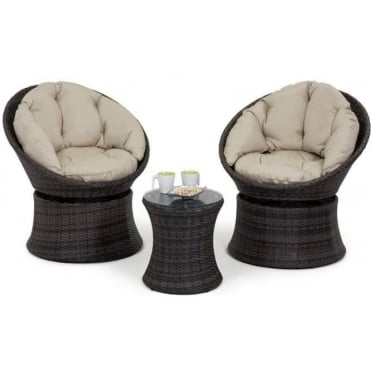 Maze Rattan 3pc Swivel Lounge Set
