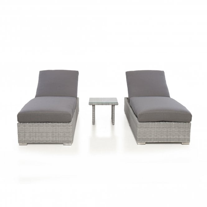 Click to view product details and reviews for Maze Rattan Ascot Sun Lounger Set.