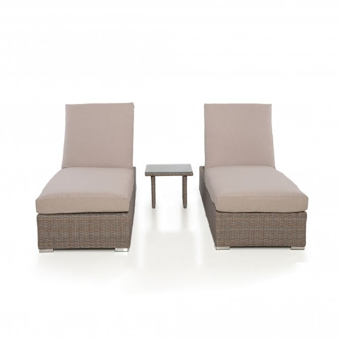Click to view product details and reviews for Maze Rattan Harrogate Sun Lounger Set.