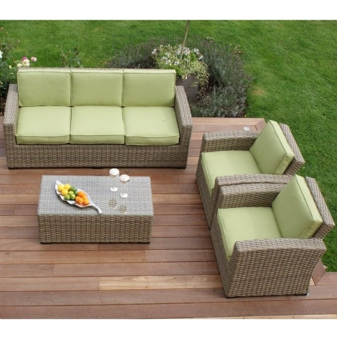 Milan Kingston 3 Seat Sofa Set