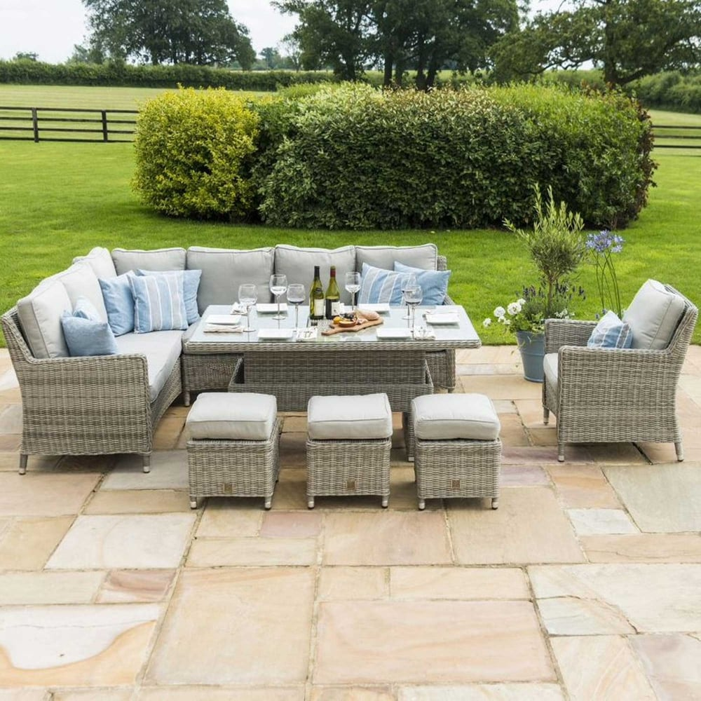 Maze Rattan Oxford Corner Dining Set With Armchair Rising