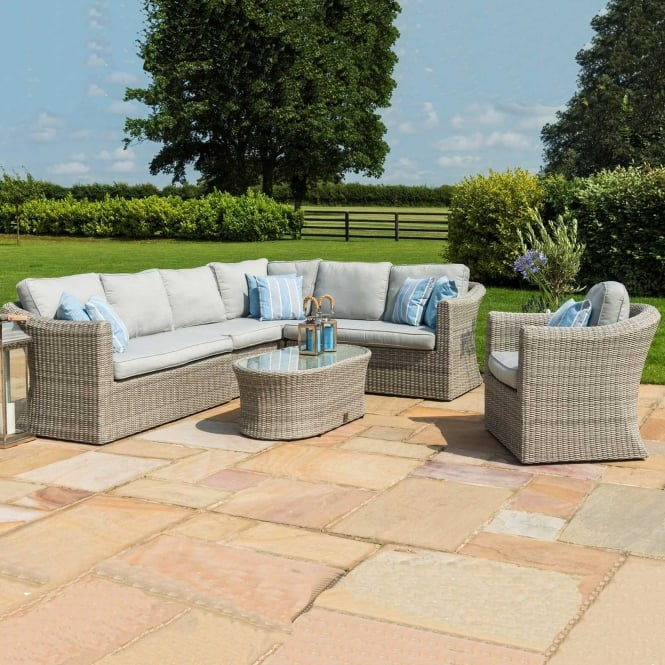 Click to view product details and reviews for Maze Rattan Oxford Large Corner Group With Chair.