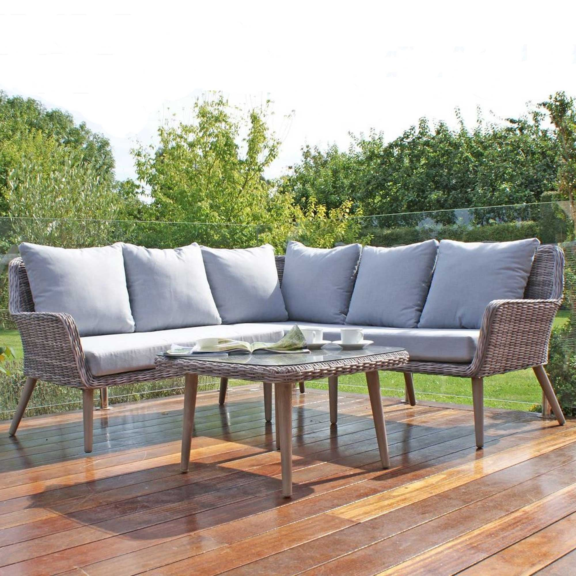 Maze Rattan Paris Small Corner Sofa Set