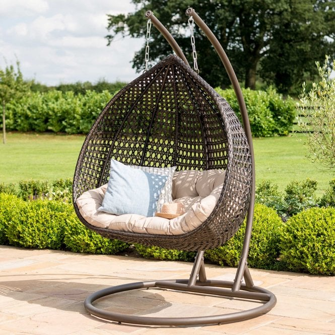 Click to view product details and reviews for Maze Rattan Rose Hanging Chair.