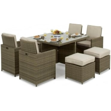 Tuscany 5pc Cube Set with Footstools