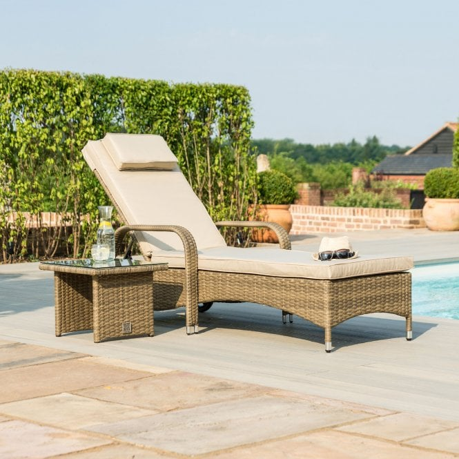 Click to view product details and reviews for Maze Rattan Tuscany Florida Sunlounger.