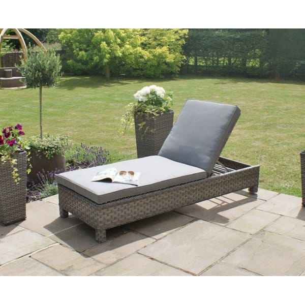 Maze Rattan Victoria Sunlounger Set In Pu Synthetic