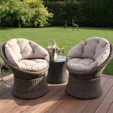 Maze Rattan Winchester 3pc Swivel Lounge Set