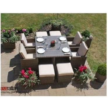 Maze Rattan Winchester 5pc Cube Set with Footstools