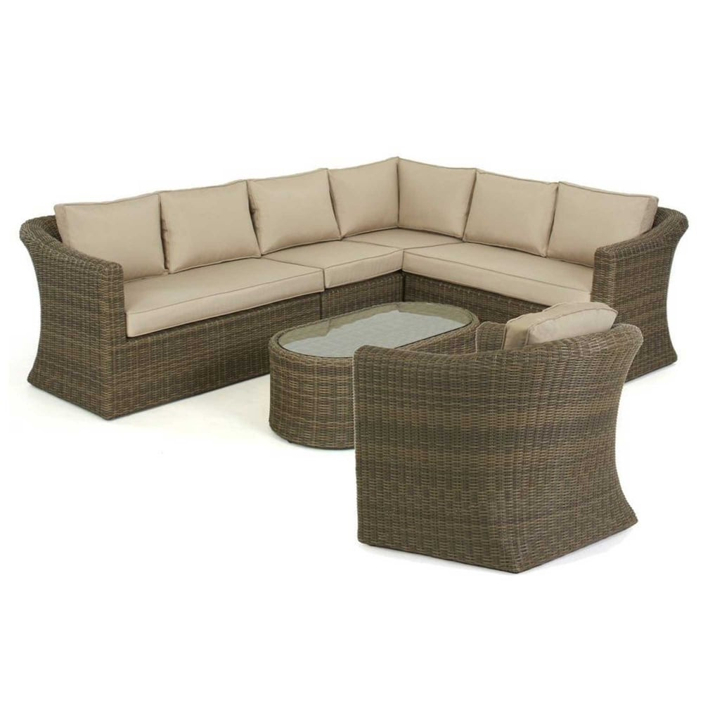 maze rattan winchester large corner sofa set with chair. Black Bedroom Furniture Sets. Home Design Ideas