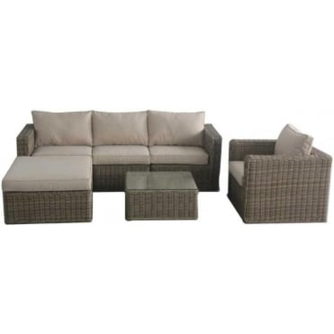 Winchester Chaise Corner Sofa with Chair