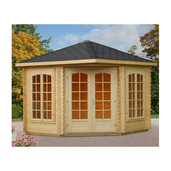 Gudrum Melanie Summer House Log Cabin Double Doors And 2