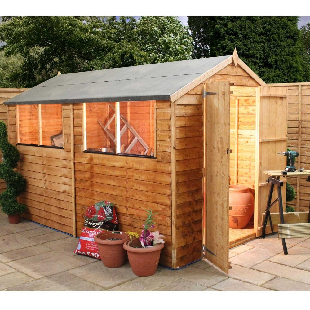 Mercia 10 X 6 Overlap Apex Shed Double Door
