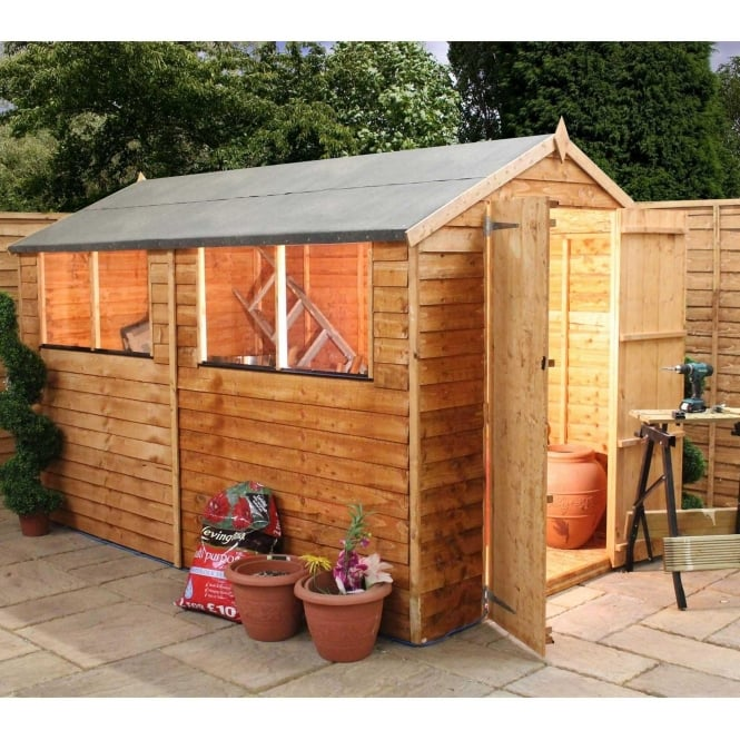 10 x 6 Overlap Apex Shed Double Door