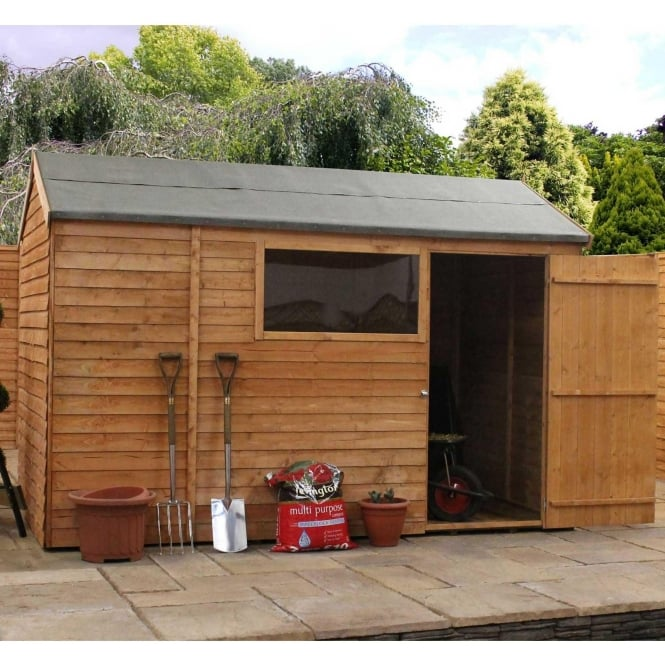 Click to view product details and reviews for Mercia 10 X 6 Overlap Reverse Apex Shed Single Door.
