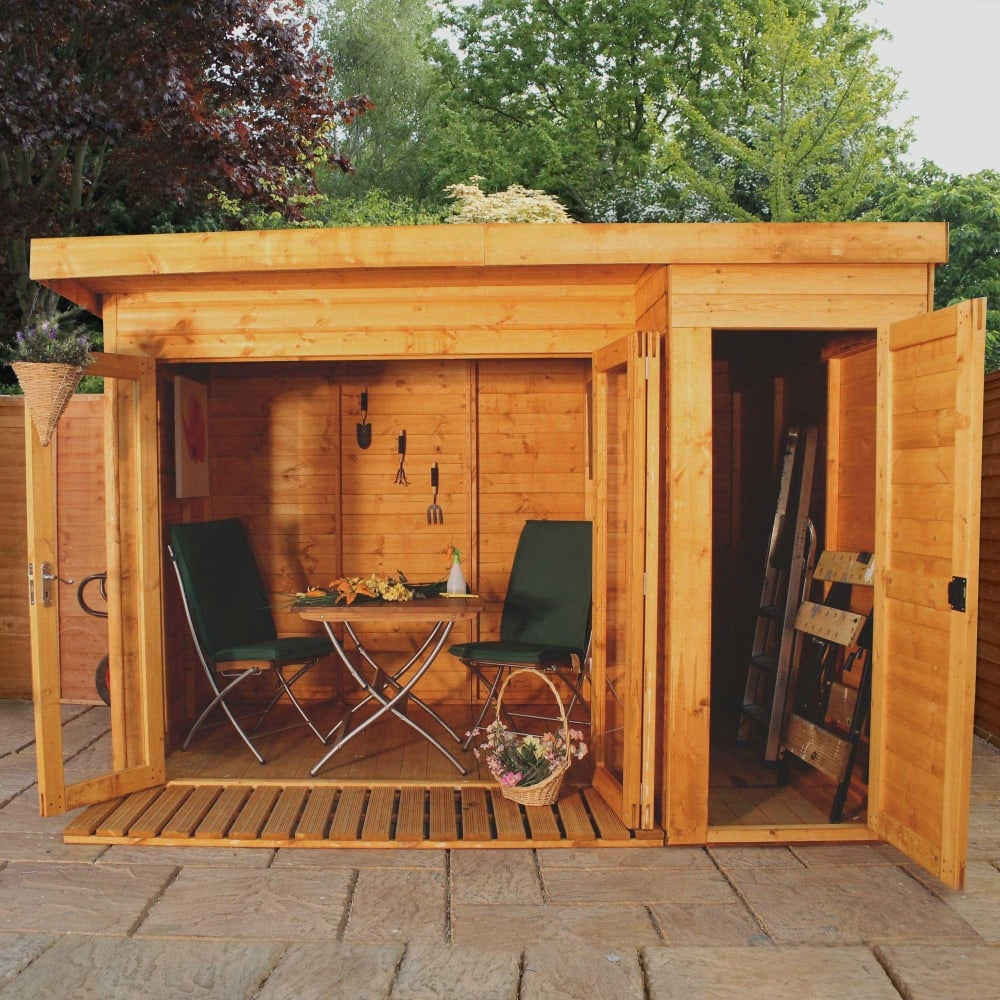 Mercia 10 x 8 garden room summerhouse with side shed for 10 x 8 garden room
