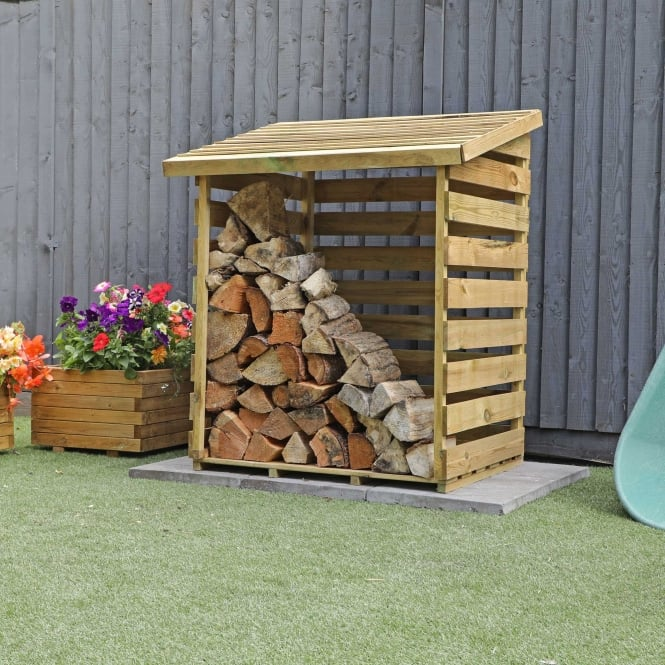 Click to view product details and reviews for Mercia 3 X 3 Pressure Treated Overlap Single Log Store.
