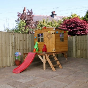 Mercia 4 x 4 Shiplap Bluebell Tower and Slide Playhouse