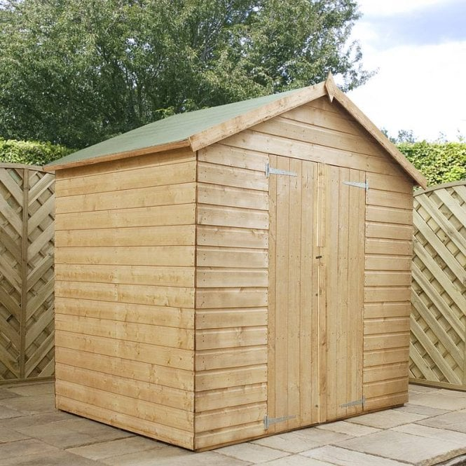 Click to view product details and reviews for Mercia 4 X 6 Shiplap Apex Modular Shed Double Door.