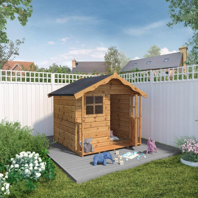Click to view product details and reviews for Mercia 5 X 5 Shiplap Poppy Playhouse.