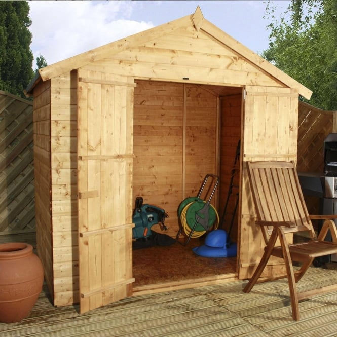 Click to view product details and reviews for Mercia 5 X 7 Shiplap Apex Modular Shed Double Door.