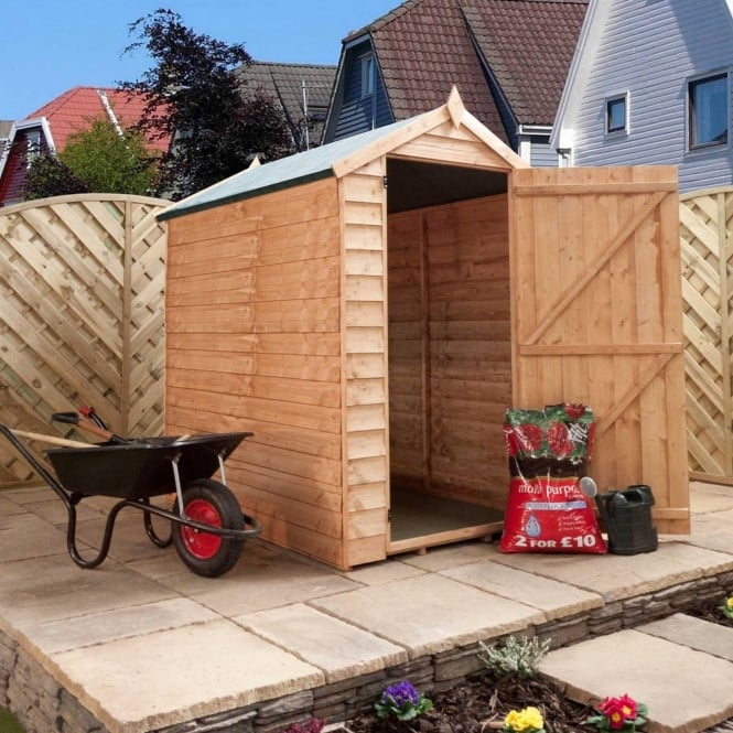 Click to view product details and reviews for Mercia 6 X 4 Overlap Apex Shed Single Door.
