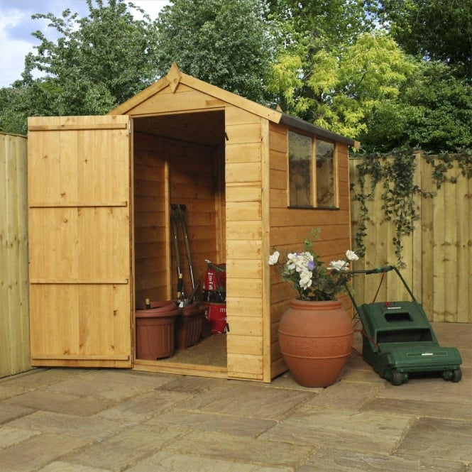 Click to view product details and reviews for Mercia 6 X 4 Shiplap Apex Shed Single Door.
