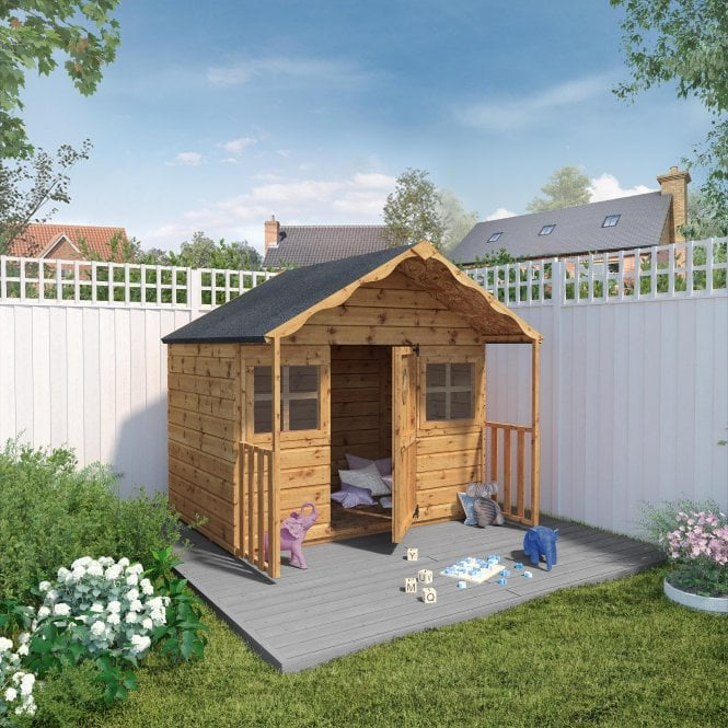 Click to view product details and reviews for Mercia 6 X 5 Shiplap Honeysuckle Playhouse.