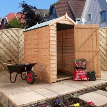 Mercia 6x4 Overlap Apex Shed Single Door