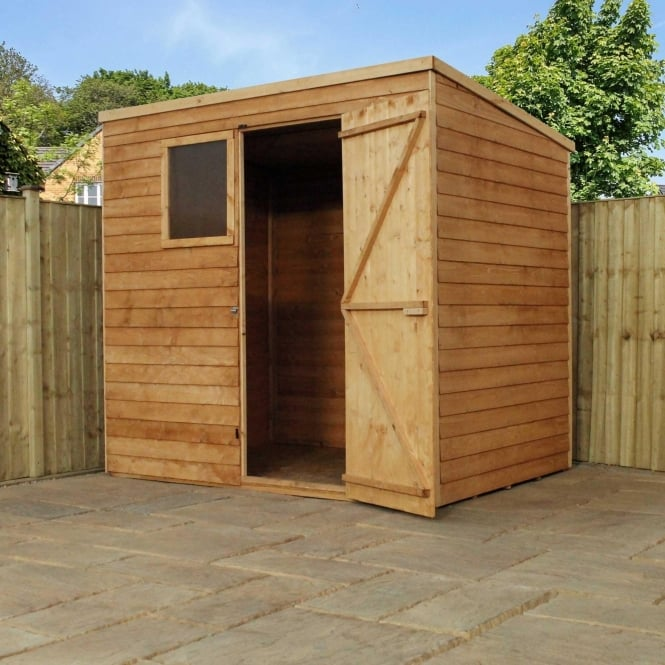 Click to view product details and reviews for Mercia 7 X 5 Overlap Pent Shed Single Door.