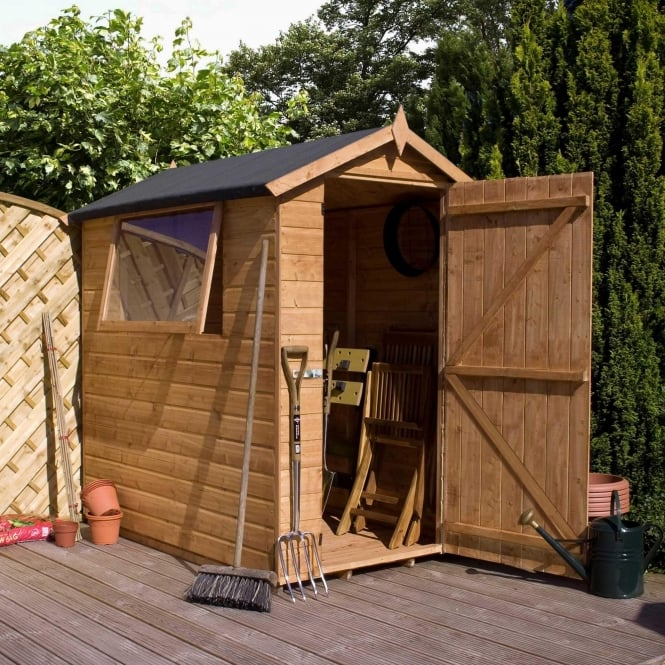 Click to view product details and reviews for Mercia 7 X 5 Premium Shiplap Apex Shed Single Door.
