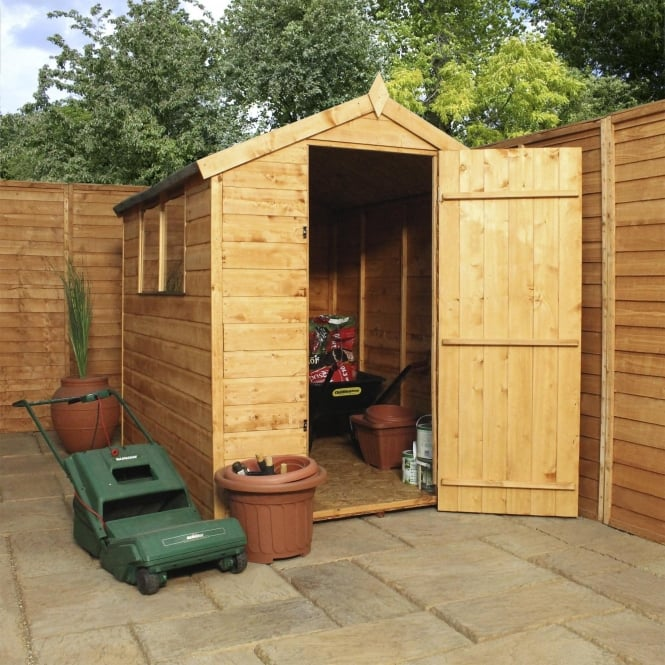 Click to view product details and reviews for Mercia 7 X 5 Shiplap Apex Shed Single Door.