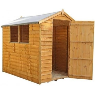 Mercia 7x5 Overlap Apex Shed Single Door