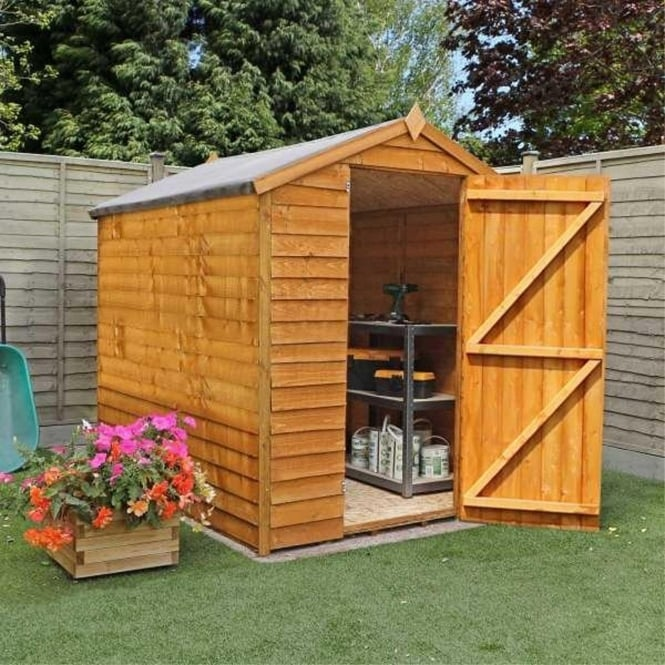 Click to view product details and reviews for Mercia 8 X 6 Overlap Apex Shed Single Door.