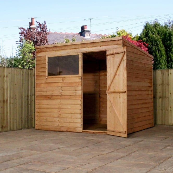 Click to view product details and reviews for Mercia 8 X 6 Overlap Pent Shed Single Door.