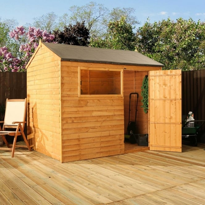 Click to view product details and reviews for Mercia 8 X 6 Overlap Reverse Apex Shed Single Door.