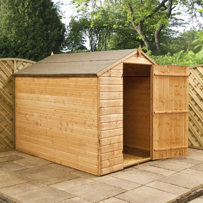 Click to view product details and reviews for Mercia 8 X 6 Shiplap Apex Shed Single Large Door.