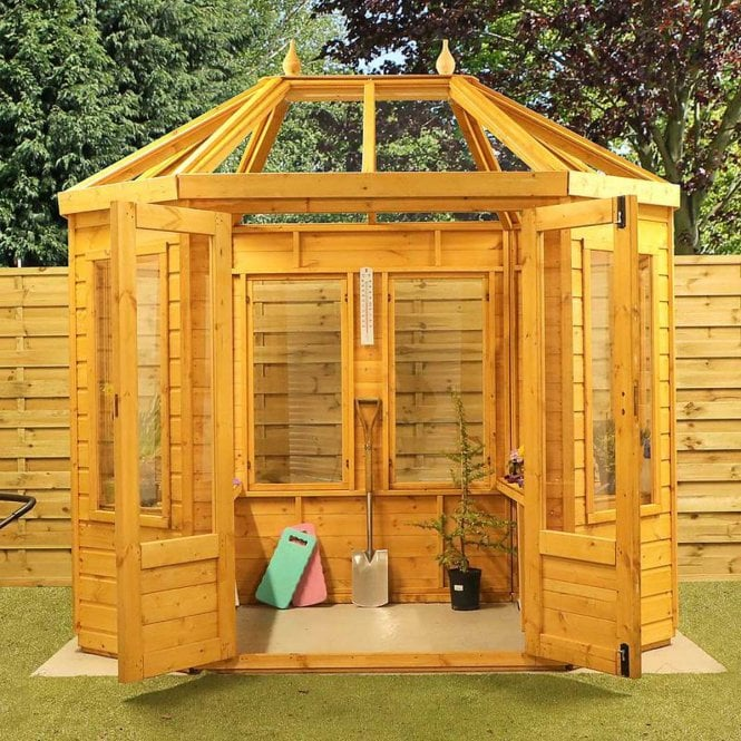 Click to view product details and reviews for Mercia 8x6 Octagonal Wooden Greenhouse.