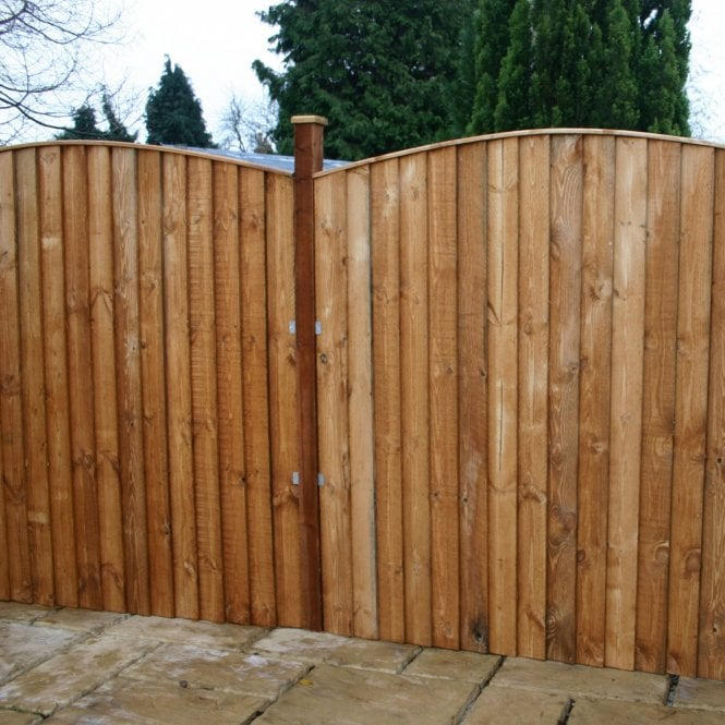 Click to view product details and reviews for Mercia Feather Edge Fence Curved Top Dip Treated.